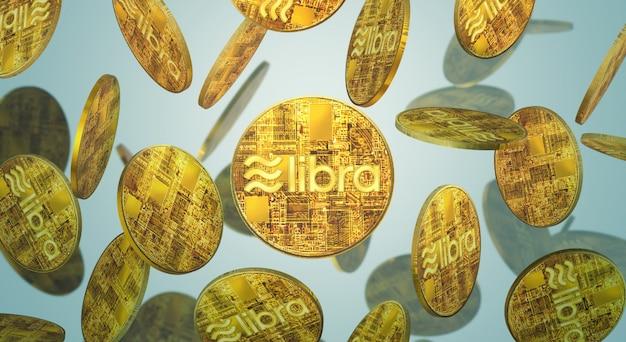 The libra facebook 3d conteúdo de criptografia de renderização.