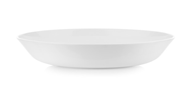Tigela branca isolada em fundo branco
