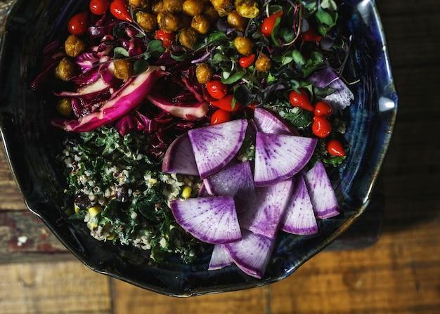Tigela de buda de organice caseiro saudável