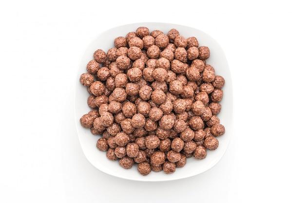 Tigela de cereal de chocolate
