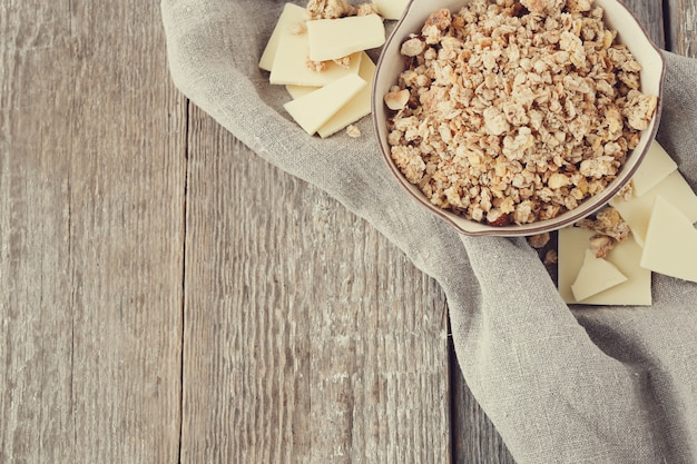Tigela de cereal para um café da manhã saudável