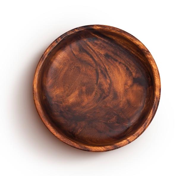 Tigela de madeira isolada