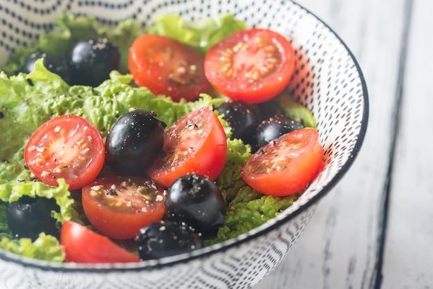 Tigela de salada fresca