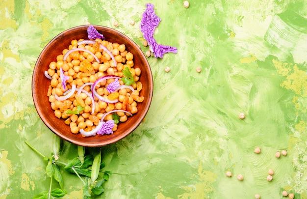 Tigela, de, salada vegan