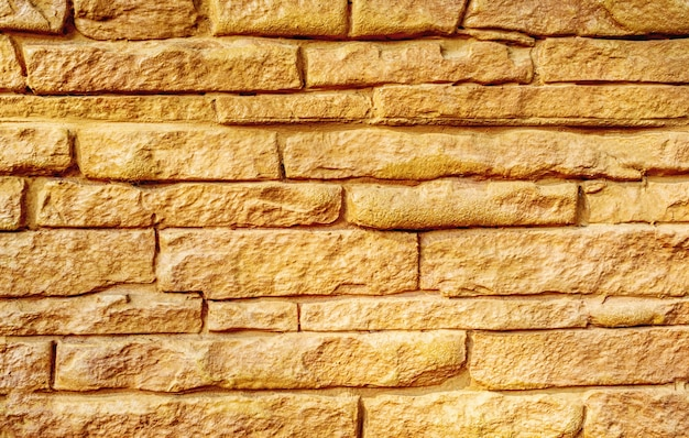 Tijolo de parede marrom claro, fundo de papel de parede de textura de argila