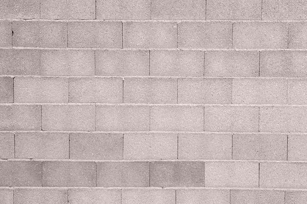 Tijolos do muro de cimento