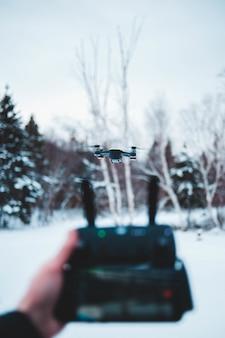 Timelapse de um drone em voo