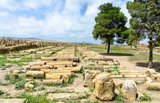 Timgad, ruínas de uma cidade romano-berbere,