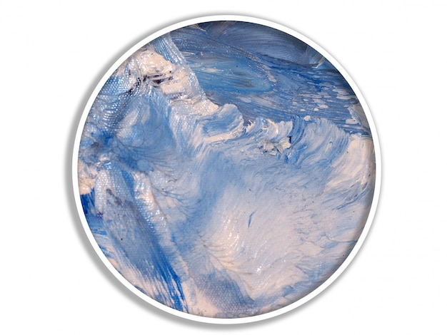 Tinta a óleo abstrata azul