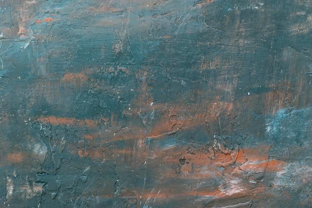 Tinta a óleo texturizada de alta qualidade em azul e marrom. conceito de textura