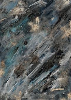 Tinta acrílica verde moderno e pintura abstrata dourada, arte contemporânea moderna, papel de parede. textura de luxo em mármore.