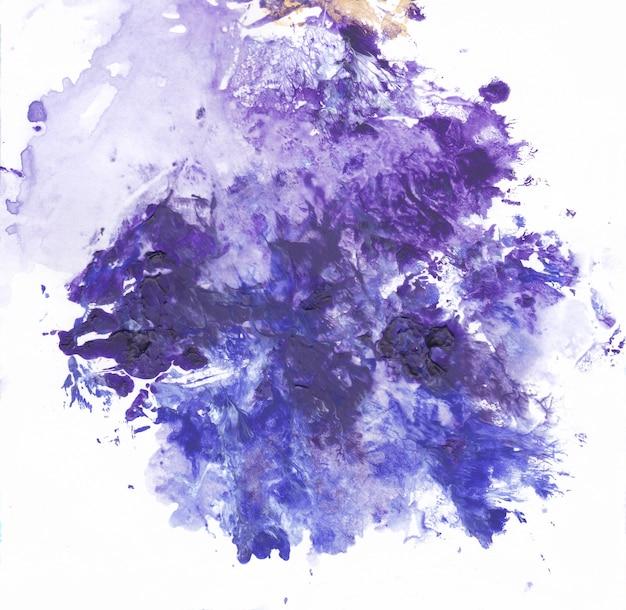 Tinta acrílica violeta moderna, pintura abstrata em azul e branco, arte contemporânea moderna, papel de parede
