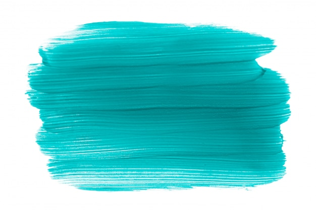 Tinta aquamarina com traços isolados