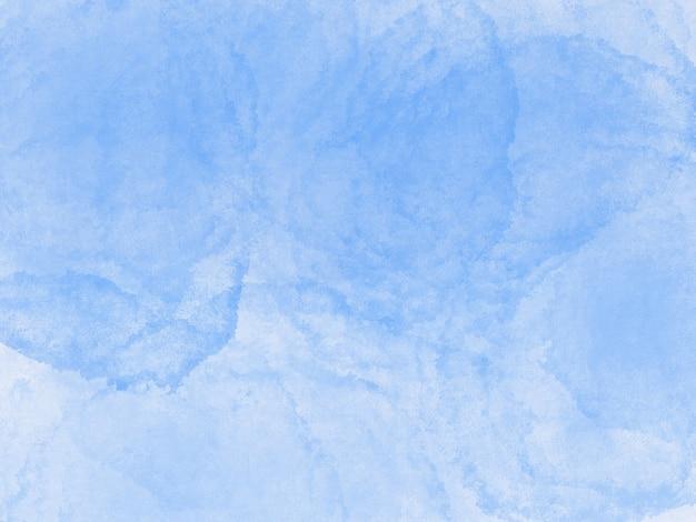Tinta aquarela azul fresca sobre fundo de textura de papel branco