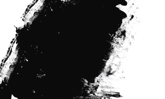 Tinta branca em fundo preto