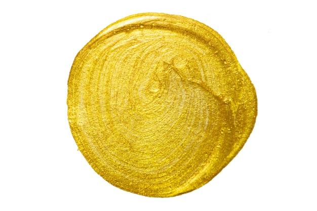 Tinta de mão em aquarela círculo de ouro