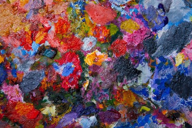 Tintas a óleo mistas de textura em cores diferentes
