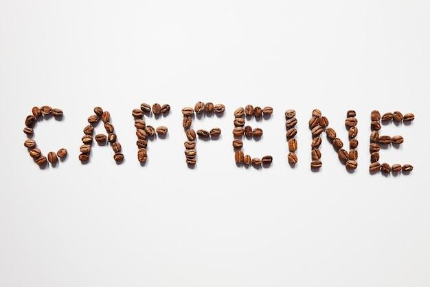 Tipografia cafeína feita a partir de grãos de café