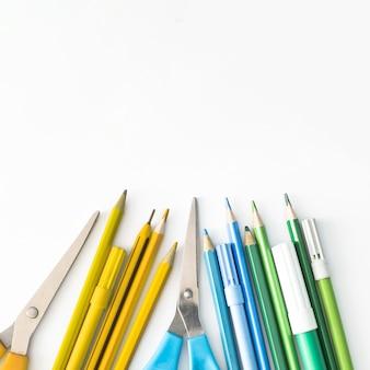 Tipos de pacote escolar colorido