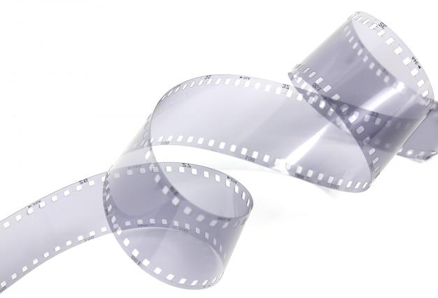 Tira de filme de 35mm em fundo branco.