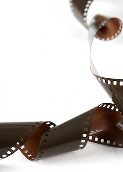 Tira de filme isolada