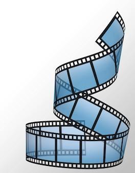 Tira de filme no fundo branco