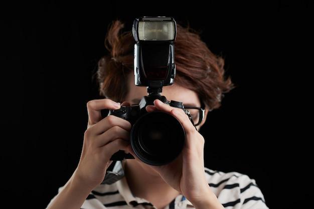 Tirando foto de você