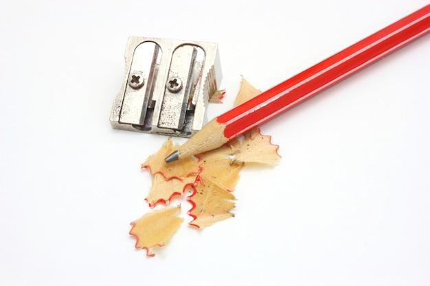 Tiro de borracha, lápis e lápis apontador duplo de metal