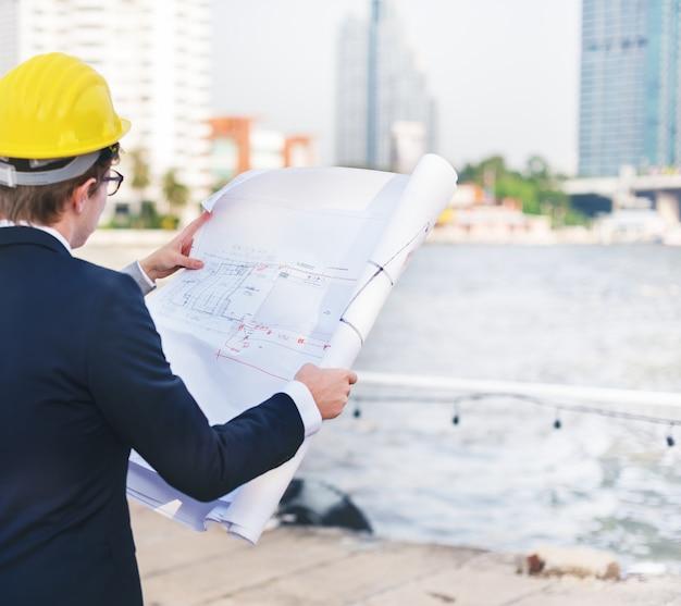 Tiro de design de construção de negócios