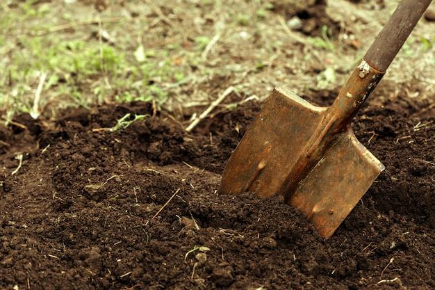 Tiro de escavação na colocação