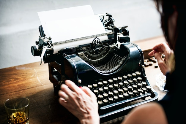 Tiro de máquina de escrever vintage