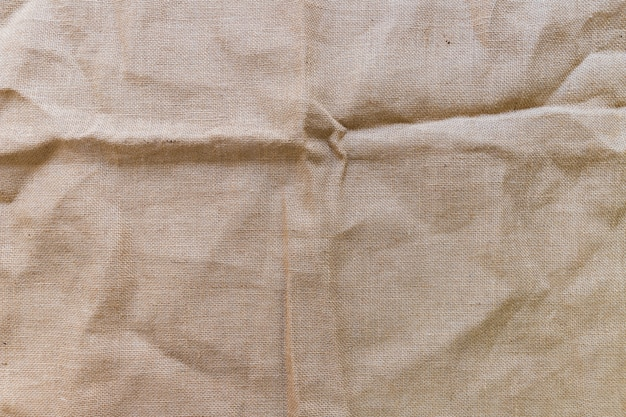 Tiro de quadro completo de fundo de textura de tecido marrom