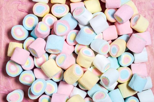 Tiro de quadro completo de marshmallows