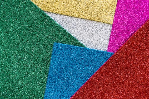 Tiro de quadro completo de multi colorido fundo glitter