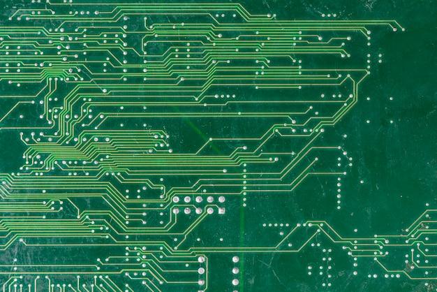 Tiro de quadro completo de placa de circuito de computador