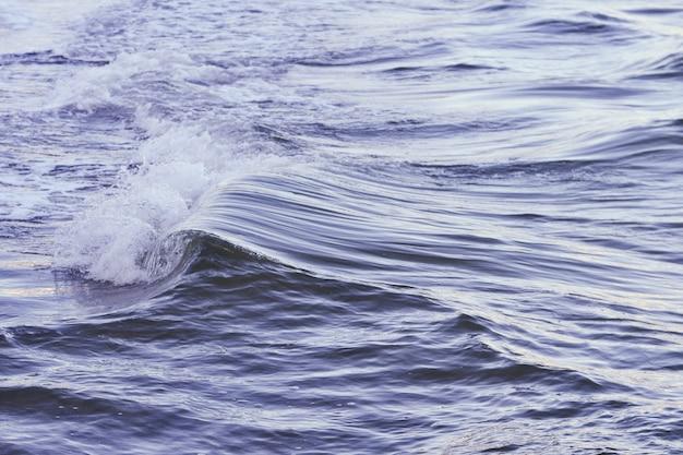 Tiro de uma bela onda no mar