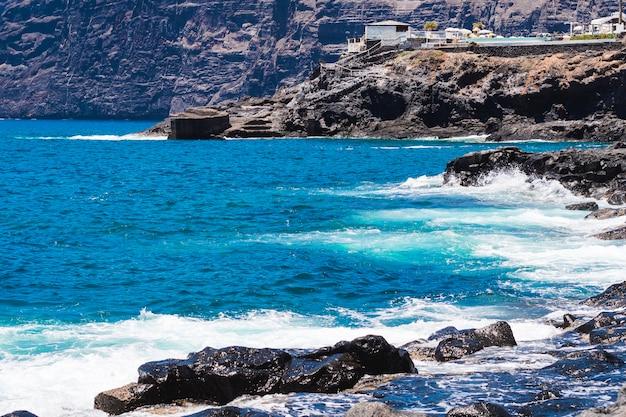 Tiro longo, cristalino, água, ligado, selvagem, praia