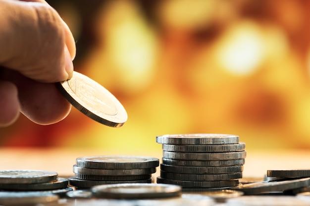 Tiro macro do conceito financeiro