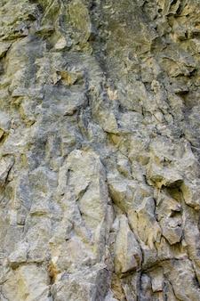 Tiro vertical das rochas na montanha medvednica em zagreb, croácia