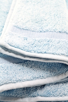 Toalha azul close-up