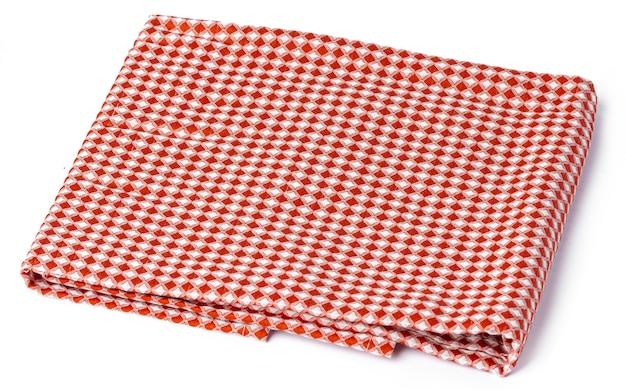 Toalha de cozinha, isolada no fundo branco