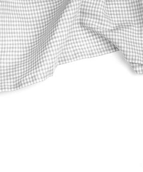 Toalha de mesa na superfície branca