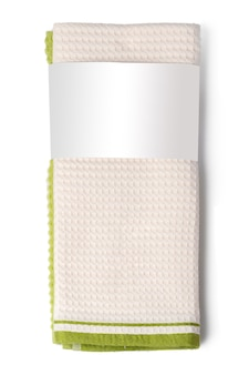Toalha isolada no fundo branco close-up