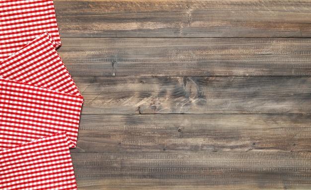 Toalha xadrez de mesa de cozinha de madeira