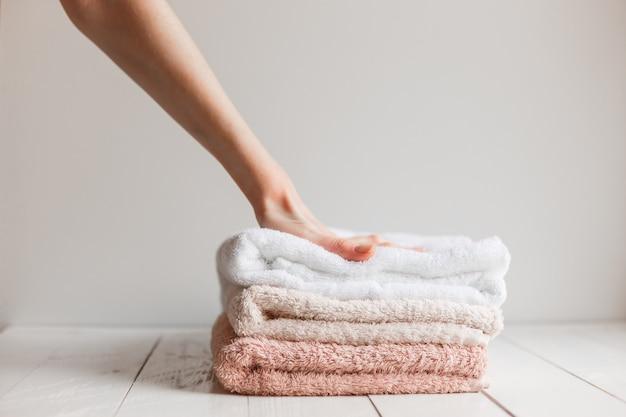 Toalhas preservadas suavidade após a lavagem.