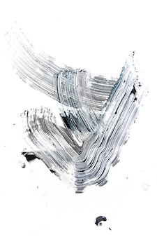 Tocar. creme pintura texturizada em fundo transparente, arte abstrata. papel de parede para dispositivo, copyspace para publicidade. o produto artístico do artista, bicolor. inspiração, ocupação criativa.