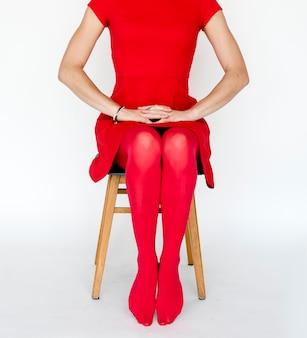 Todas as roupas vermelhas