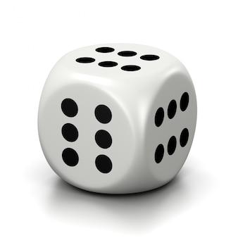 Todos os seis números numerados de faces brancas