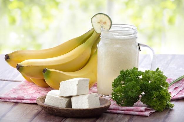 Tofu encontra smoothies de frutas