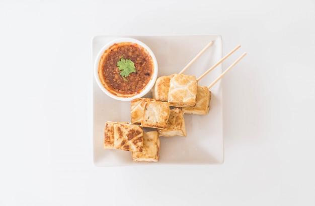 Tofu frito - comida saudável
